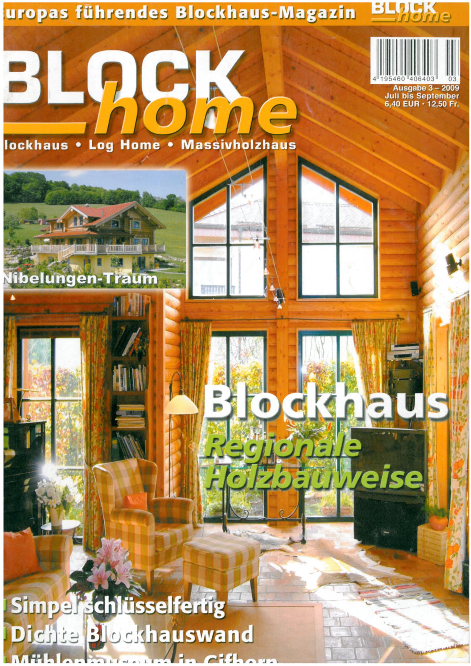 Floss Blockhaus Holzrahmen Zimmerei Architektur